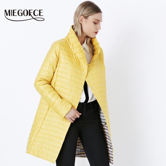 MIEGOFCE 2018 New Spring Jacket Parka Women Winter Coat Women's Warm Outwear Thin Cotton-Padded Long Jackets Coats High Quality