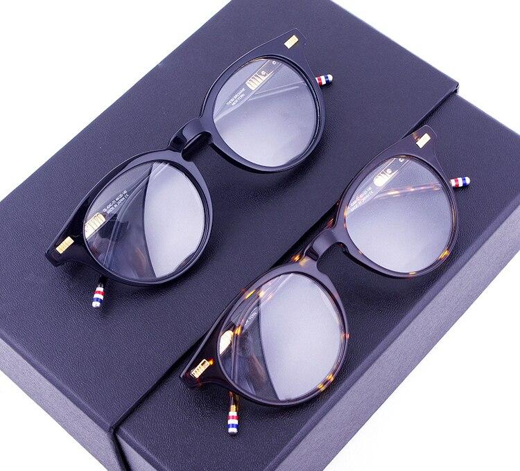 New Fashion Women Glasses Frame Men Eyeglasses Frame Thom Brand Vintage Round Clear Lens Glasses Prescription Lens