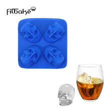 FILBAKE New Silicone Skull Ice Cube Mold Cake Fondant Chocolate Making Maker Bar Tools For Whiskey Accessories