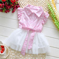 2017 muchachas del verano del bebé ropa de la marca impreso vestido de algodón vestidos para la ropa de bebé girls princess tutu vestido de fiesta informal