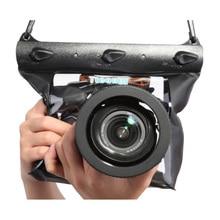 Tteoobl GQ 518L 카메라 방수 건조 가방 캐논 니콘 DSLR slr에 대한 20m 수중 다이빙 카메라 하우징 케이스 파우치 드라이 백