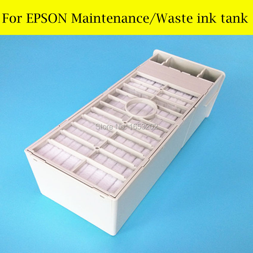 1 Piece Maintenance Tank For Epson Stylus Pro 7600 9600 4000 Printer Waste Ink Tank cap top cap station for epson stylus 7600 9600 solvent based ink printer capping