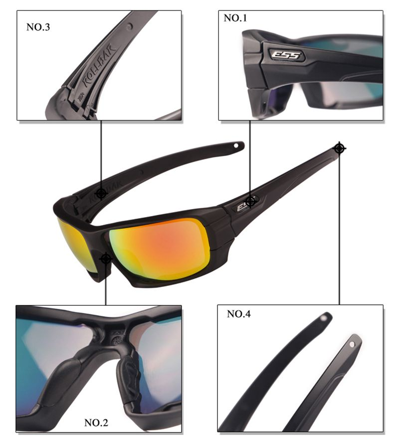 3031e36c61 ESS ROLLBAR Polarized Tactical Sunglasses UV protection Military Glasses  TR90 Army Google Bullet proof Eyewear