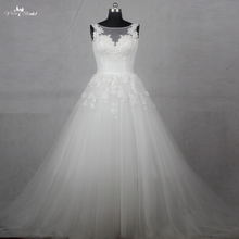 yiaibridal RSW1129 A Line Wedding Dresses Sleeveless