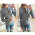 New Autumn Fashion Zip Maternity Clothes Spring Autumn Maternity Tops Blouses for Pregnant Women Long-sleeved Pregnancy Shirt