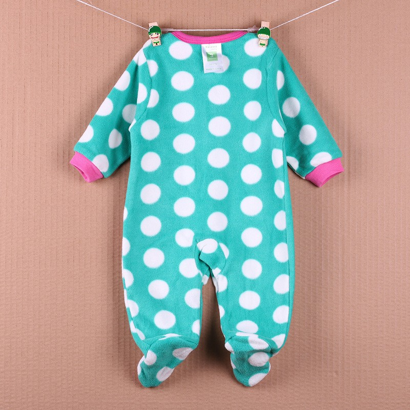New Arrival Baby Footies Boys&Girls Jumpsuits Spring Autumn Clothes Warm Cotton Baby Footies Fleece Baby Clothing Free Shipping (6)
