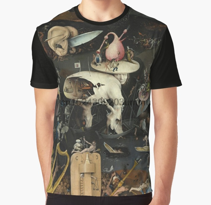 All Over Print Women T Shirt Men Funny Tshirt The Garden Of Earthly Delights - Hieronymus Bosch Graphic Women T-Shirt