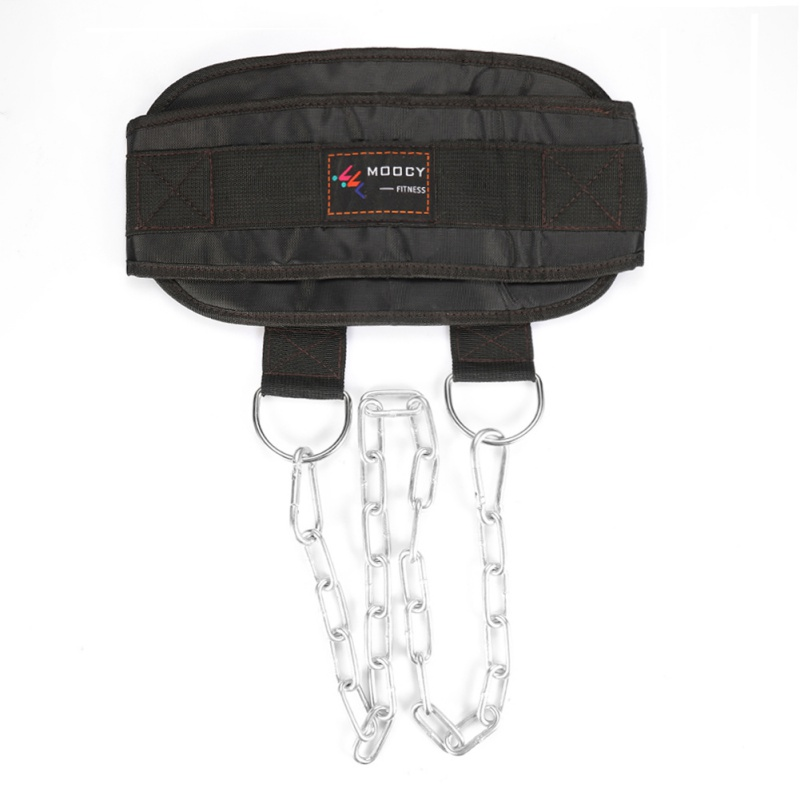 Gym Body nylon Shipping Lifting Dip Belt Up Weight Chain metal Fitness + Dipping Drop Strength Waist Pull Building