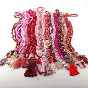Женское ожерелье ручной работы, смешанный цвет, 20 шт.