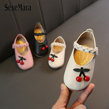 2019 Summer Closed Toe Baby Girls Sandals Princess Toddler Girl Shoes with Cherry New Lovely Leather for Kids Clogs C03051