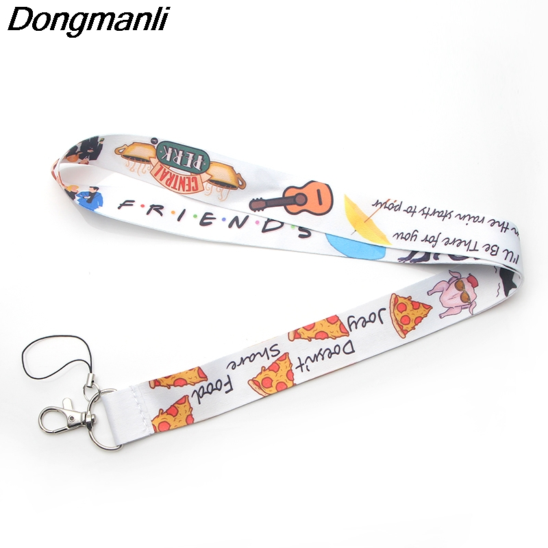P3233 Dongmanli Friends TV Show Lanyards For Keychain ID Card Pass Gym Mobile Phone USB Badge Holder Hang Rope Lariat Lanyard