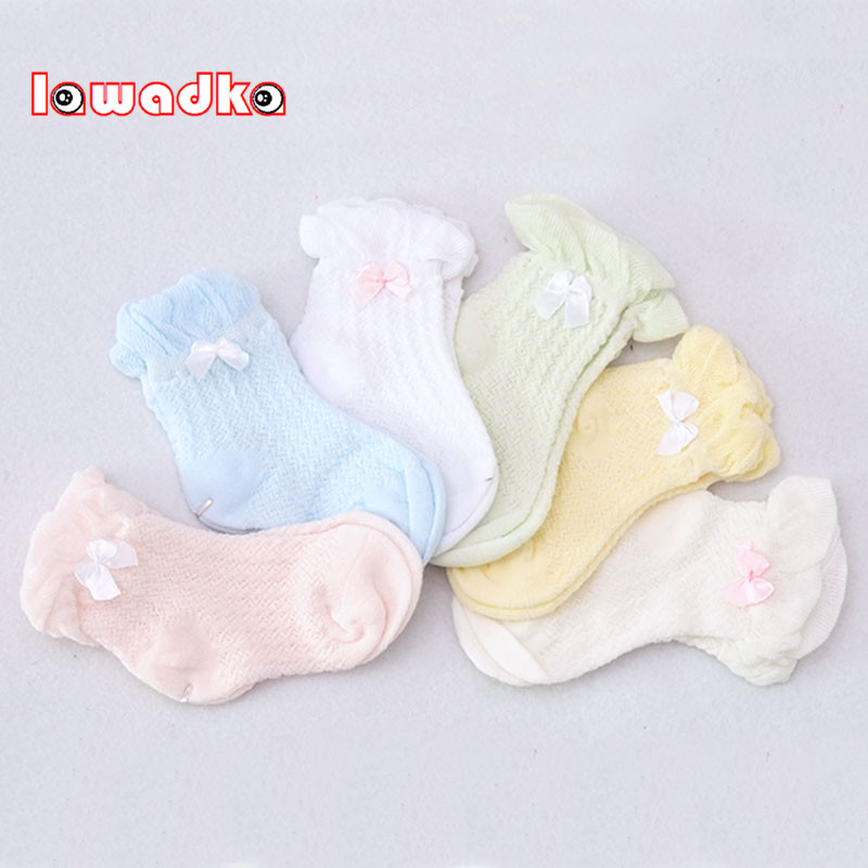 Lawadka Cute Summer Baby Socks  Solid Bow Thin Soft Cotton Children For Boys Girls Mesh Socks