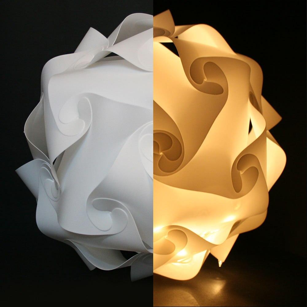 White 25cm/30cm/40cm Modern DIY Elements IQ Jigsaw Puzzle ZE Lamp Ceiling Chandelier Pendant Lamp Ball Light Lighting 110-240V