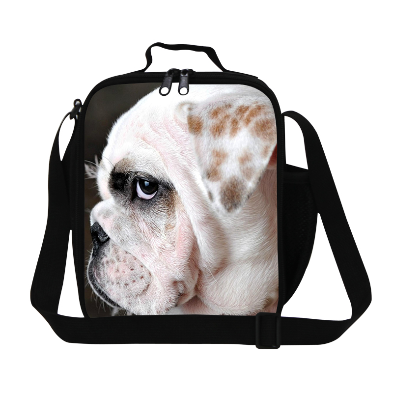 Dog new design 3D animal lunch bag for children cute cat kids food lunchbox thermal picnic box fashion pet printing shoulder bag