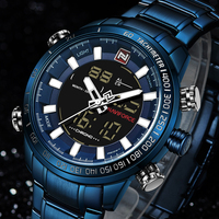 2018 новые синие мужские кварцевые аналоговые часы Роскошные модные спортивные наручные часы водостойкие мужские часы Relogio Masculino