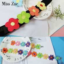 Cutyyy Cartoon Flowers Brooches Choker Necklace Bracelet Red Yellow Blue Green Pink Orange Flower Chains Kawaii Gift for Girls(China)