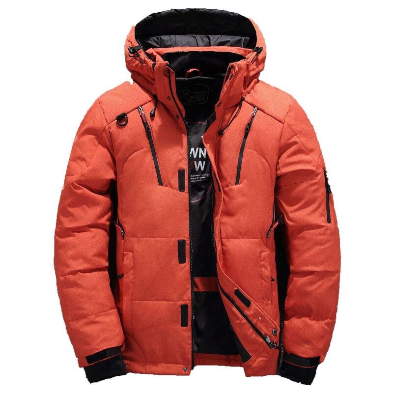 2018 Winter Duck Down Jacket Men Fur Collar Jacket Men Thick Warm Mens White Duck Down Coat Jaqueta Masculina