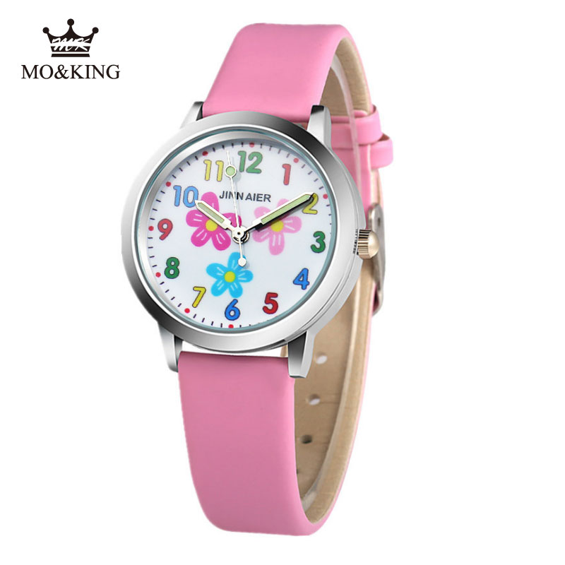 Fashion Cute Girls Design Children Watch Quartz Color Flowers Girl Clock Boy Baby Children Holiday Gift Reloj Turtles Relogio