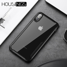 Luxury Shockproof Armor Phone Case For iPhone 7 8 Plus Xs Max XR Transparent TPU Silicone Cover X XS 6 6s SE 5s