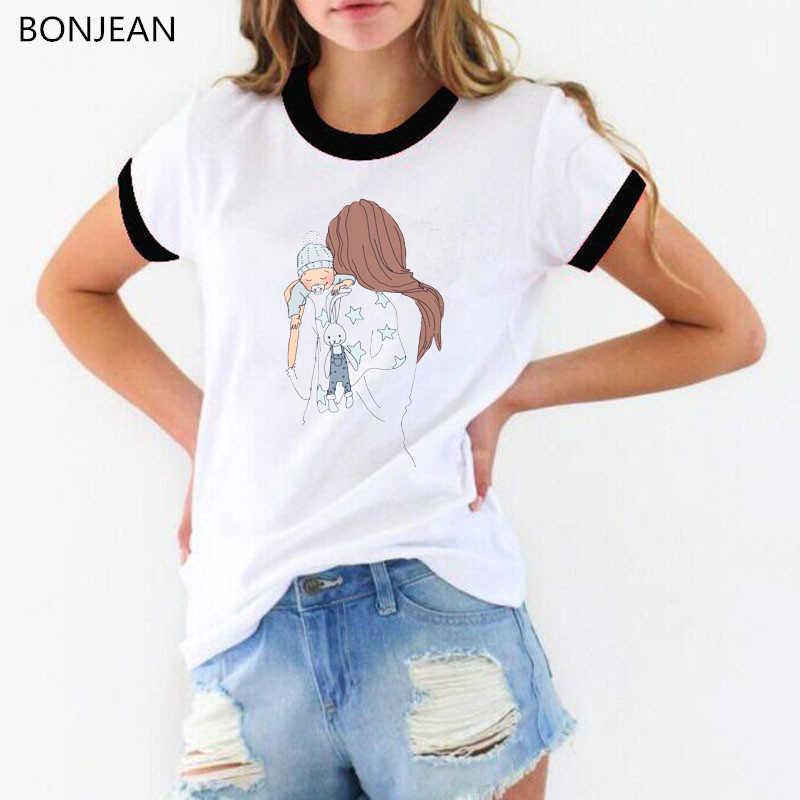קוריאני סגנון טי חולצה femme סופר אמא tshirt נשים בגדי 2019 אמא חיים הדפסת t חולצה נשי harajuku kawaii camiseta mujer