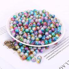 Круглые шарики из искусственного жемчуга ABS, акриловые шарики ручной работы для изготовления ювелирных изделий makin, 20 шт.