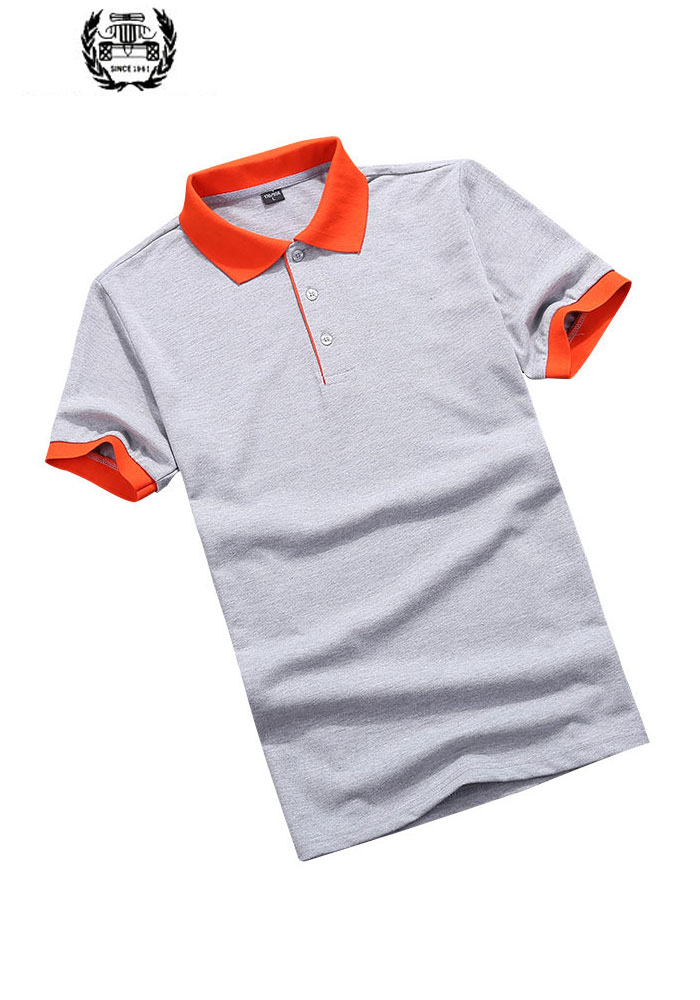 Summer Men's Contrast Color Cotton   Polo   Shirts Brand Fitness Tops Tees Short Sleeve Shirts Casual Black and White Men CLOTHES
