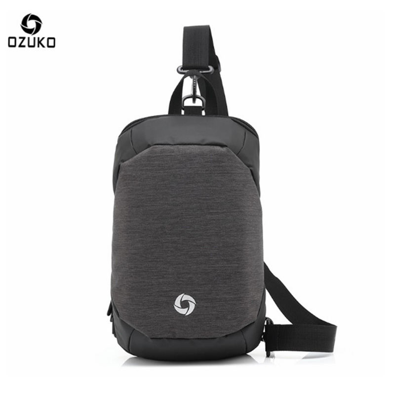 OZUKO 2017 Multi-function Men's Chest Pack Originality High Quality Oxford Backpack Fashion Leisure Man Anti Theft Diagonal Bags