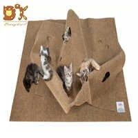 DannyKarl 2019 nuevo paño creativo de fieltro alfombra de juego para mascotas alfombra de entrenamiento de Agility para gatos almohadilla de mordedura para mascotas cojín de gato y perro