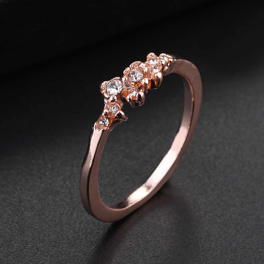 7e15483d6 ... Rose Gold Crystal Ring For Women Silver Plated Finger Rings Women  Jewelry Engagement Rings Golden Wedding ...