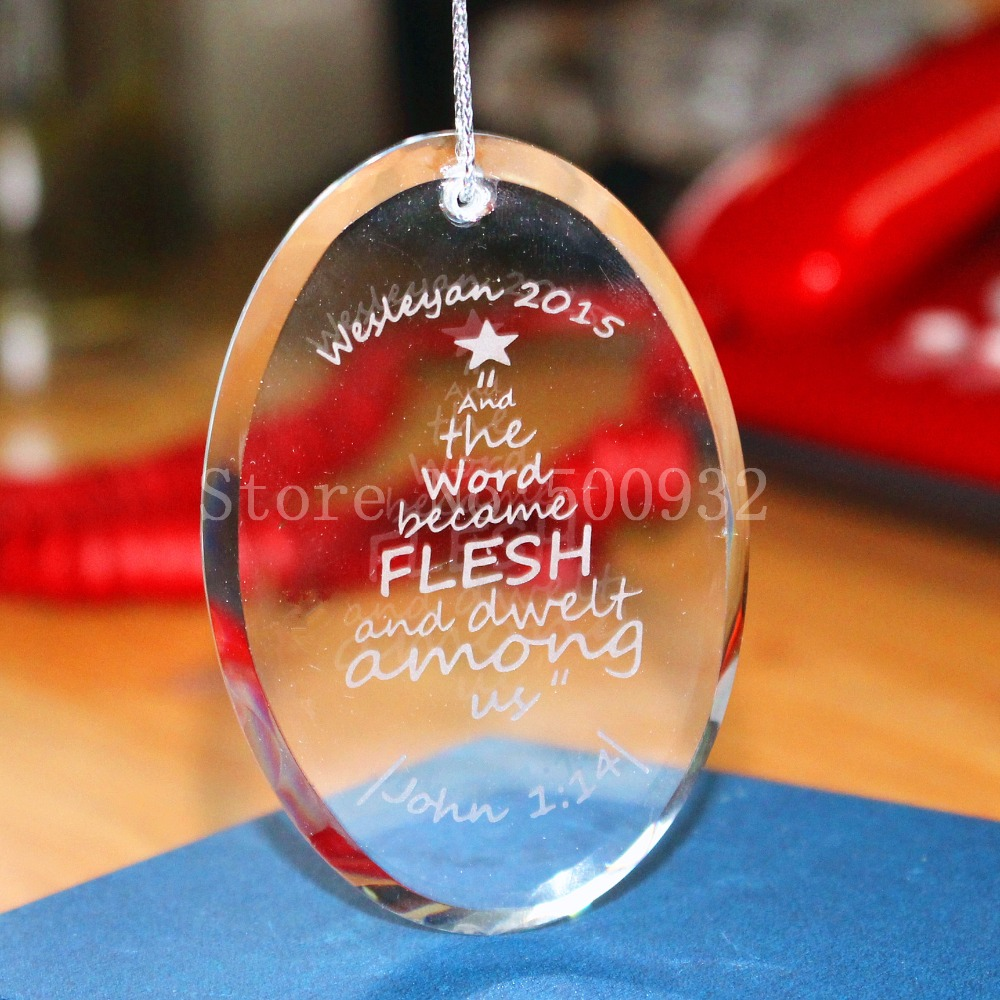 Engraved glass ornaments - Blank 74 50 6mm 5pcs Lot Crystal Christmas Tree Ornament Glass Ornament Blanks For Engrave