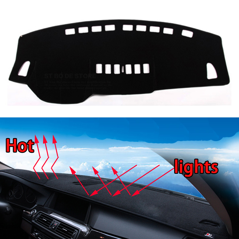 Car dashboard Avoid light pad Instrument platform desk cover Mats Carpets Auto accessories car styling for nissan Tiida 2005-16 car dashboard cover mats avoid light pad instrument platform desk carpets for skoda octavia a7 2015 2016 2017 auto accessories