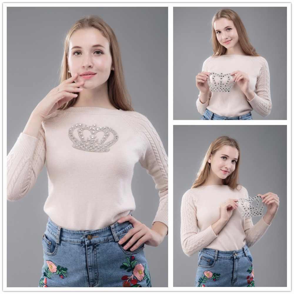 Thiết kế mới Các Bản Vá Lỗi với DMC Lớp hotfix rhinestone Handmade Sắt-on vải T-Shirt Áo Khoác phụ kiện hoa SANG TRỌNG vá TỰ LÀM