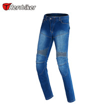 HEROBIKER Men Jeans  Motorcycle Motocross Moto Pants Jeans With 4 Protector Pad Motorcycle Racing Pants Winter Warm Windproof