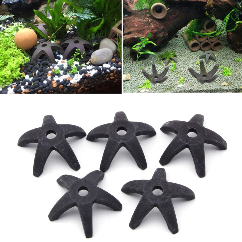 2017 Aquarium Fish Tank Starfish Shaped Home Shrimp Spawn nest Shelter Breeding Cave Escape house Plant Moss Live apr12_35