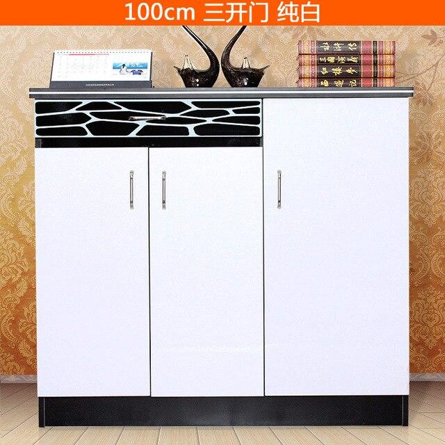 Five Colour Choose Three Door Shoe Cabinet Console Cabinet High Capacity  Shoe Rack