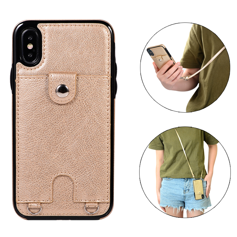 Luxury Wallet Cover Fundas Soft Silicone Case for iphone 6 6s 8 7 plus X XR XS MAX Leather Cases Capinha For iphone8plus Mujer