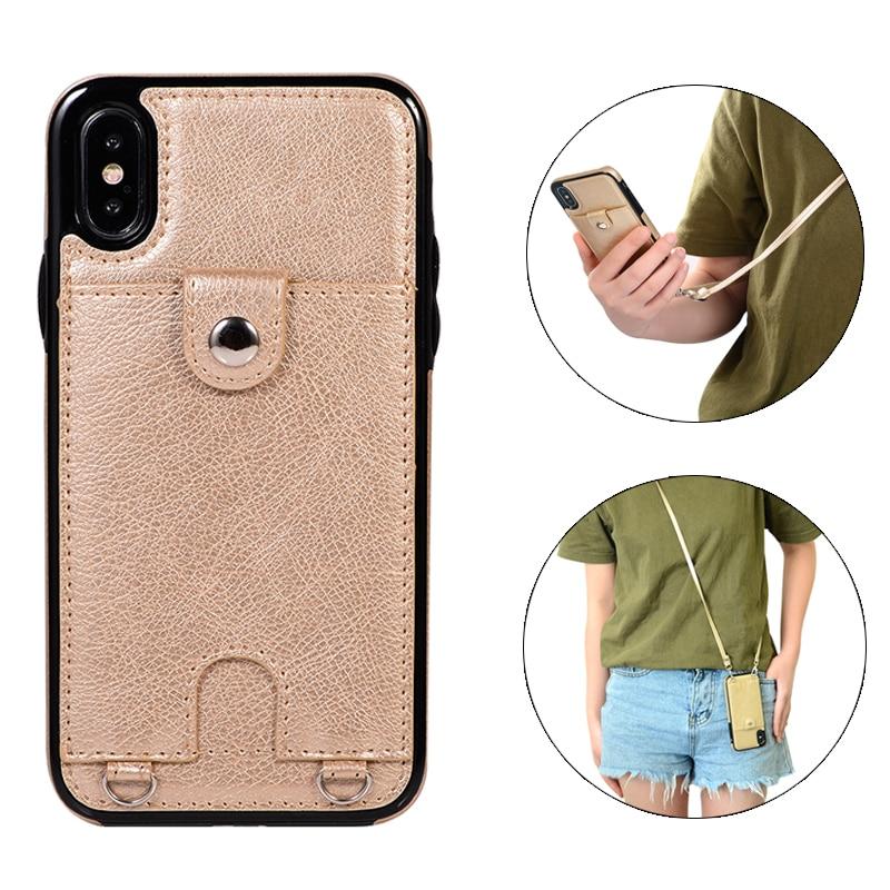 Luxus Brieftasche Abdeckung Fundas Weiche Silikon Fall für iphone 6 6s 8 7 plus X XR XS MAX Leder Cases Capinha Für iphone 8 plus Mujer
