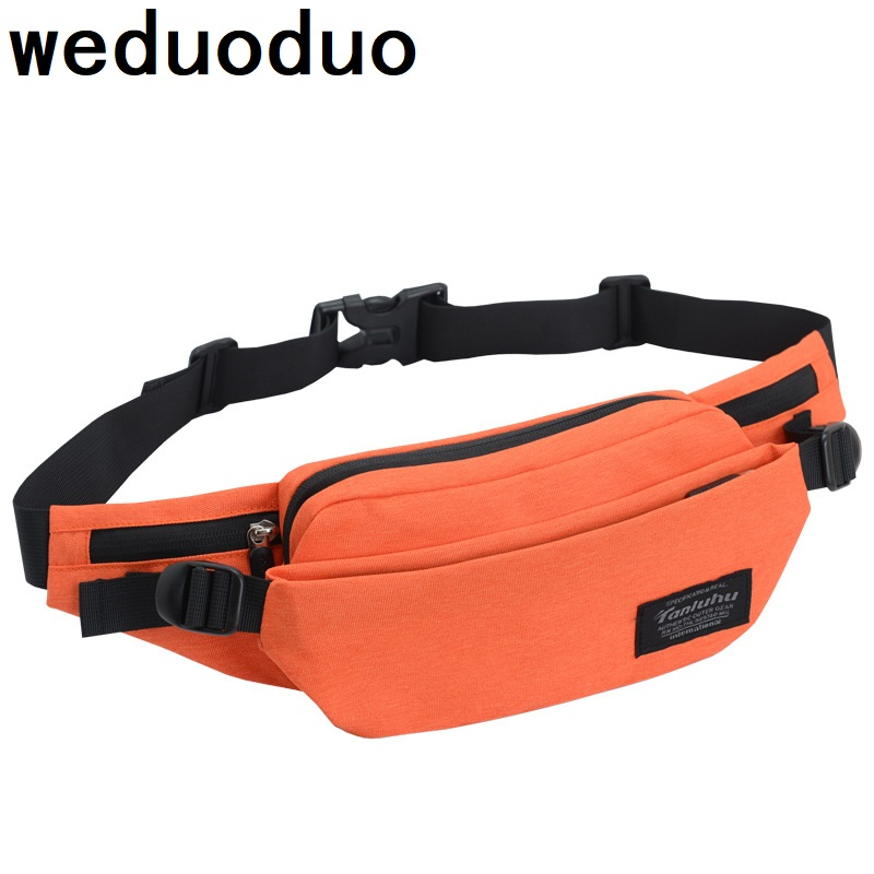 Weduoduo New Men Casual Fanny Bag Women Shoulder Waist Pack Bag Pouch Travel Hip Bum Bag Nylon waterproof Belt bag 7 Colors