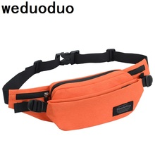 купить Weduoduo New Men Casual Fanny Bag Women Shoulder Waist Pack Bag Pouch Travel Hip Bum Bag Nylon waterproof Belt bag 7 Colors дешево