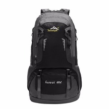 60L Waterproof Wear Resistant Men Women Outdoor Travel Backpack Large Capacity Hiking Climbing Backpack Rucksack