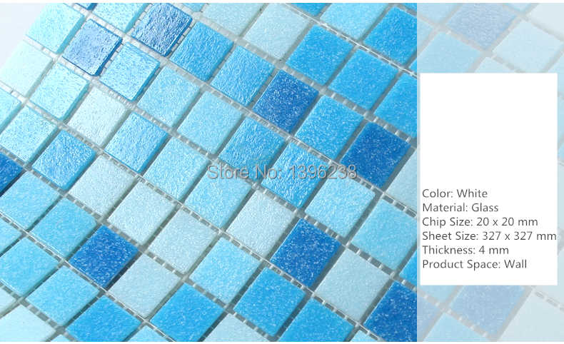 Free Shippingsea Blue Glass Mosaic Tile Outdoor Wall Floor