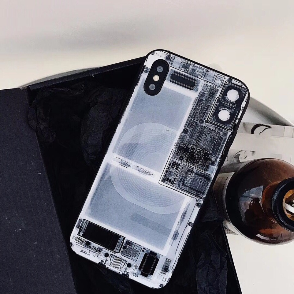 New Fashion 9h Tempered Glsss Phone Cases For Iphone X 055mm Electronic Gadgets Circuit Diagram Silicone Manly Coque Funda Protective Shell Bags In Fitted From
