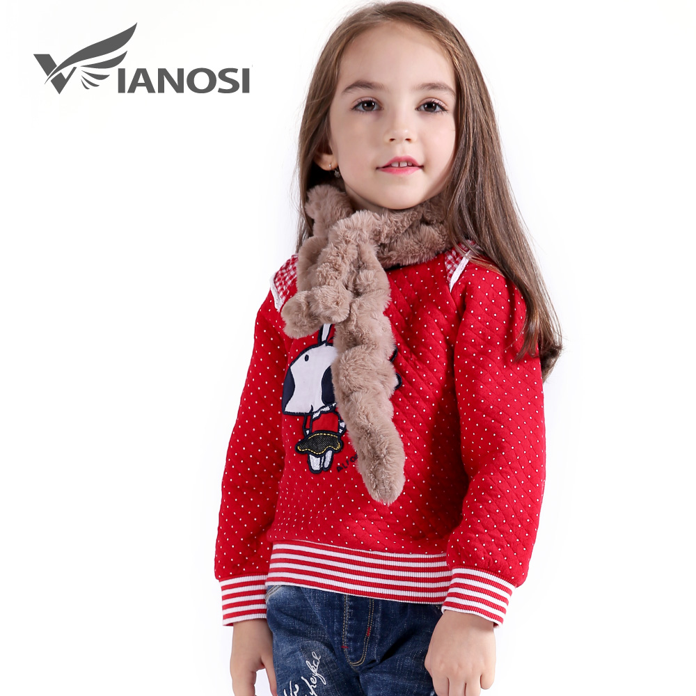 VIANOSI Faux Fur Winter Scarf for Girls Warm Scarves Kids Children Christmas Gift CH014