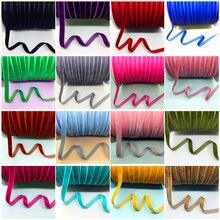 """5 ярдов 3/""""(10 мм) бархатная лента для украшения свадебной вечеринки лента ручной работы подарочная упаковка банты для волос DIY Рождественская лента"""