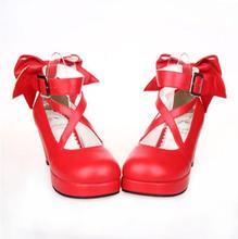Puella Magi Madoka Magica Kaname Madoka Lolita Platform Pumps High Heels Cosplay Shoes Any Size puella magi madoka magica kaname madoka handmade cute bow princess sweet lolita girl cosplay shoes