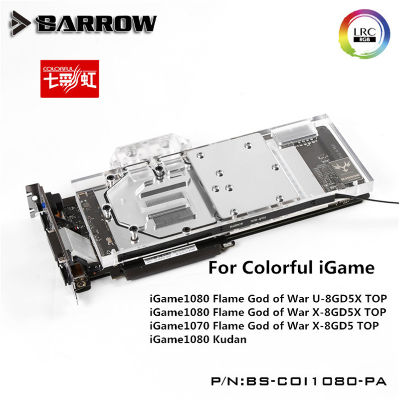 Barrow GPU Water Block For COLORFUL iGame GTX1080/1070 flame ares X Water Cooling Radiator BS-COI1080-PA цены