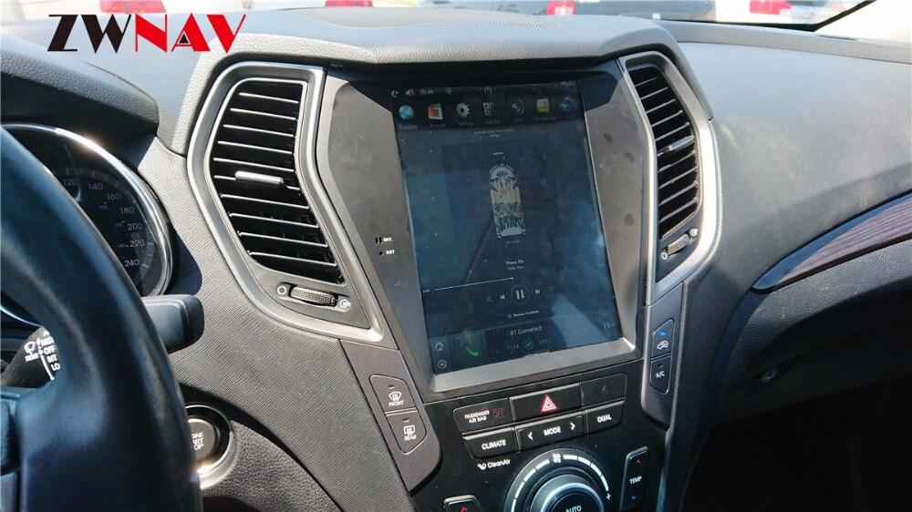 ZWNVA Tesla style Screen Newest Android 6.0 64+2GB Car GPS Navigation Radio For Hyundai Santa Fe ix45 2013 2018