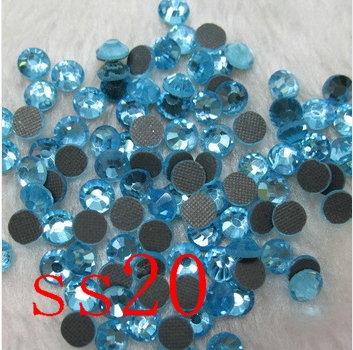 SS20 1440PCS aquamarine DMC HotFix FlatBack Rhinestones crystal hot fix stone Iron On Rhinestones garment sewing stones