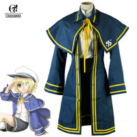 Custom Made Plus Size Anime Vocaloid 3 Oliver Uniform Halloween Cosplay Costume For Adult And Children