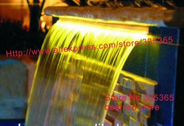 Waterproof 600mm Length Abs Acrylic 6w Rgb Led Water Fall Strip Waterfall Spa Pool